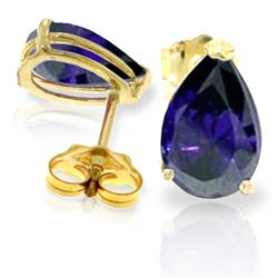 ALARRI 3 CTW 14K Solid Gold Last Lady Standing Sapphire Earrings