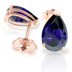 ALARRI 3 Carat 14K Solid Rose Gold Allure Sapphire Stud Earrings