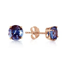 ALARRI 0.95 Carat 14K Solid Rose Gold Anna Tanzanite Stud Earrings