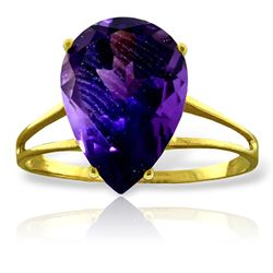 ALARRI 5 Carat 14K Solid Gold Not Just Slightly Amethyst Ring