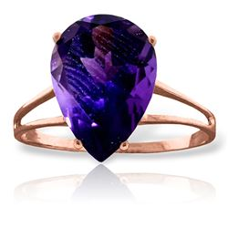 ALARRI 5 CTW 14K Solid Rose Gold Sensuality Purple Amethyst Ring