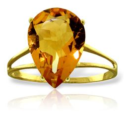 ALARRI 5 Carat 14K Solid Gold Just As Well Citrine Ring