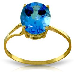 ALARRI 2.2 CTW 14K Solid Gold Party Themed Blue Topaz Ring
