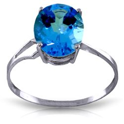 ALARRI 2.2 Carat 14K Solid White Gold How Could I Blue Topaz Ring