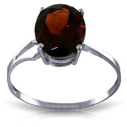 ALARRI 2.2 Carat 14K Solid White Gold Emphasis On Glamour Garnet Ring