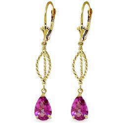 ALARRI 3.4 CTW 14K Solid Rose Gold Citrine Envy Earrings