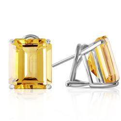 ALARRI 3.4 Carat 14K Solid White Gold I Feel Fabulous Citrine Earrings