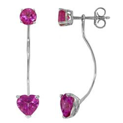 ALARRI 4.55 Carat 14K Solid White Gold Pillar Of Confidence Pink Topaz Earrings