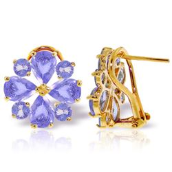 ALARRI 4.85 Carat 14K Solid Gold French Clips Earrings Natural Tanzanite