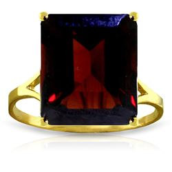 ALARRI 7 CTW 14K Solid Gold Ring Natural Octagon Garnet