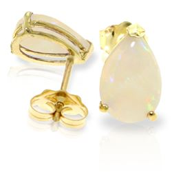 ALARRI 1.55 Carat 14K Solid Gold Stud Earrings Natural Opal