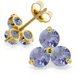 ALARRI 1.5 Carat 14K Solid Gold Never Said Otherwise Tanzanite Earrings
