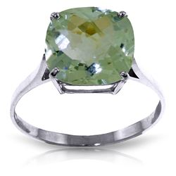ALARRI 3.6 CTW 14K Solid White Gold Hymne L'amour Green Amethyst Ring