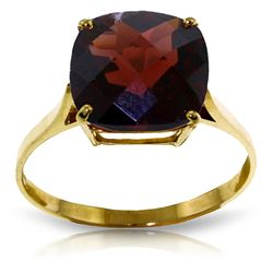 ALARRI 4.5 CTW 14K Solid Gold Ring Natural Checkerboard Cut Garnet