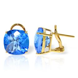 ALARRI 7.2 CTW 14K Solid Gold Provocative Blue Topaz Earrings