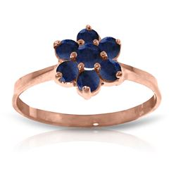 ALARRI 14K Solid Rose Gold Ring w/ Natural Sapphires