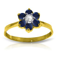 ALARRI 0.5 CTW 14K Solid Gold Can't Dictate Love Sapphire Diamond Ring