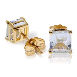 ALARRI 1.75 Carat 14K Solid Gold I Saw The Horizon Aquamarine Earrings