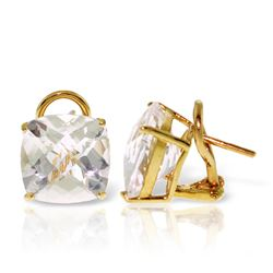ALARRI 7.2 CTW 14K Solid Gold Provocative White Topaz Earrings