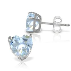 ALARRI 3.25 Carat 14K Solid White Gold Suddenly Subtle Aquamarine Earrings