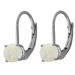 ALARRI 0.7 CTW 14K Solid White Gold Crème De La Crème Opal Earrings
