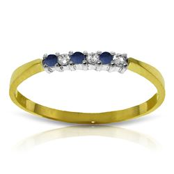 ALARRI 0.11 CTW 14K Solid Gold Picture Perfect Sapphire Diamond Ring