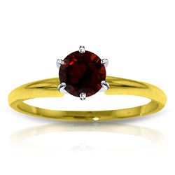 ALARRI 0.65 Carat 14K Solid Gold Solitaire Ring Natural Garnet
