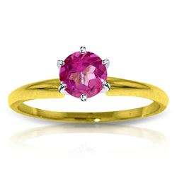 ALARRI 0.65 CTW 14K Solid Gold Solitaire Ring Natural Pink Topaz