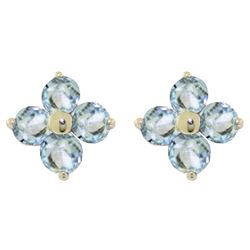 ALARRI 1.15 CTW 14K Solid Gold Flutter Home Aquamarine Earrings