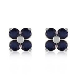 ALARRI 1.15 Carat 14K Solid White Gold Good To Be True Sapphire Earrings