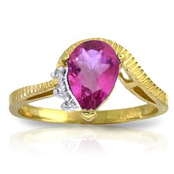ALARRI 1.52 Carat 14K Solid Gold Inspired Ideas Pink Topaz Diamond Ring