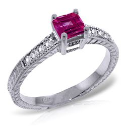 ALARRI 0.65 CTW 14K Solid White Gold Nothing As Important Pink Topaz Diamond