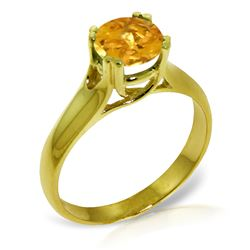 ALARRI 1.1 Carat 14K Solid Gold Love Claims Its Tune Citrine Ring