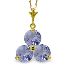 ALARRI 0.75 Carat 14K Solid Gold Hue Of Passion Tanzanite Necklace