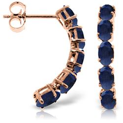 ALARRI 14K Solid Rose Gold Earrings w/ Natural Sapphires