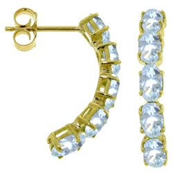 ALARRI 2.5 CTW 14K Solid Gold Earrings Natural Aquamarine