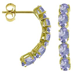 ALARRI 2.5 Carat 14K Solid Gold Earrings Natural Tanzanite