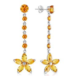 ALARRI 4.8 Carat 14K Solid Gold I Sought You Out Citrine Earrings