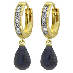 ALARRI 6.64 CTW 14K Solid Gold Tres Chic Sapphire Diamond Earrings