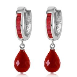 ALARRI 7.8 Carat 14K Solid White Gold Classic Stays Ruby Earrings