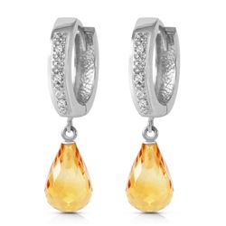 ALARRI 4.54 CTW 14K Solid White Gold Epitome Of Elegance Citrine Diamond Earrings