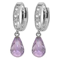 ALARRI 4.54 Carat 14K Solid White Gold Zelda Amethyst Diamond Earrings