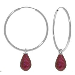 ALARRI 6.6 Carat 14K Solid White Gold Thing Called Life Ruby Earrings