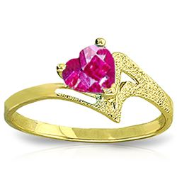 ALARRI 0.95 Carat 14K Solid Gold Authentic Element Pink Topaz Ring