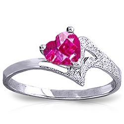 ALARRI 0.95 Carat 14K Solid White Gold Master This Pink Topaz Ring