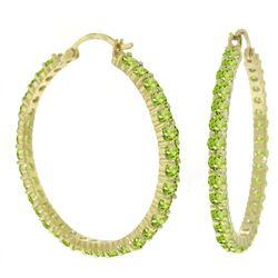 Alarri 6 Carat 14k Solid Gold Alana Peridot Hoop Earrings