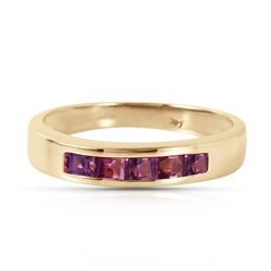 ALARRI 0.6 CTW 14K Solid Gold Bliss Is Found Here Amethyst Ring