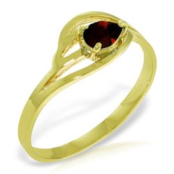 ALARRI 0.3 Carat 14K Solid Gold Grain Of Truth Garnet Ring