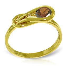ALARRI 0.65 Carat 14K Solid Gold Basket Of Hope Garnet Ring
