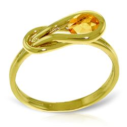 ALARRI 0.65 Carat 14K Solid Gold Timidness Enfolds Citrine Ring